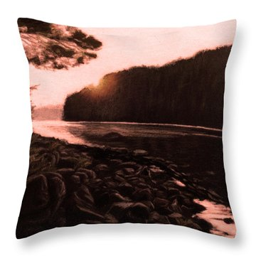 Rosy Glow Of Morning Throw Pillow