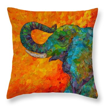 Rosy The Elephant Throw Pillow