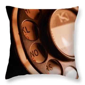 Rotary Dial Throw Pillow