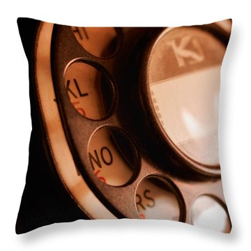 Rotary Dial Throw Pillow