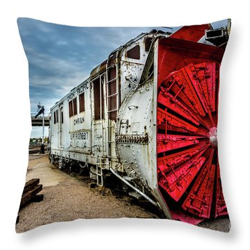 Throw Pillow featuring the photograph Rotary Snow Plow Vintage Train - Utah by Gary Whitton