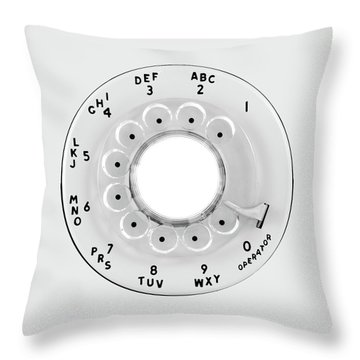 Rotary Telephone Dial Throw Pillow by Jim Hughes