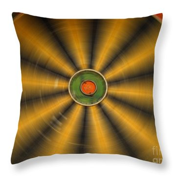 Rotating Dartboard Throw Pillow by Yali Shi