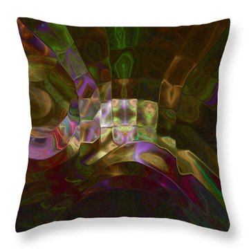 Throw Pillow featuring the digital art Rotation by Kate Word