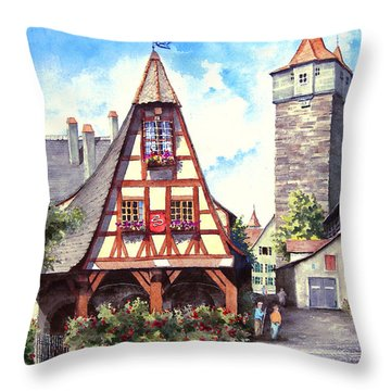 Rothenburg Memories Throw Pillow