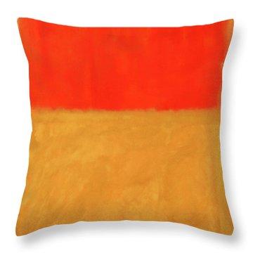 Rothko's Orange And Tan Throw Pillow