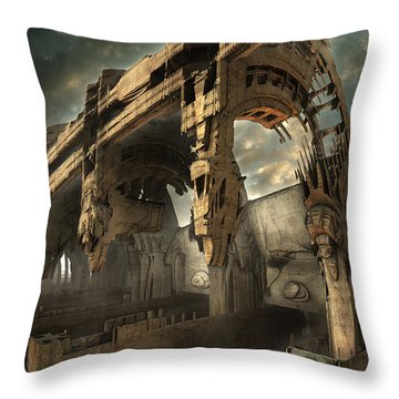 Rotted Bridge Throw Pillow