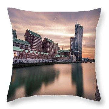 Rotterdam Spoorweghaven Throw Pillow