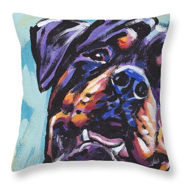 Rottie Power Throw Pillow