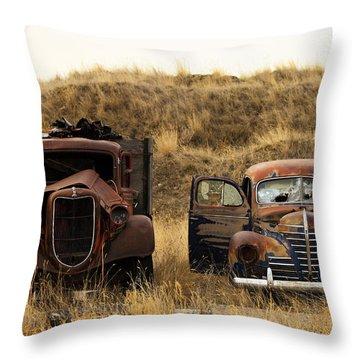 Rotting Jalopies Throw Pillow
