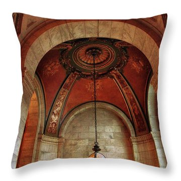 Throw Pillow featuring the photograph Rotunda Ceiling by Jessica Jenney