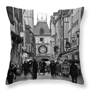 Rouen Street Throw Pillow