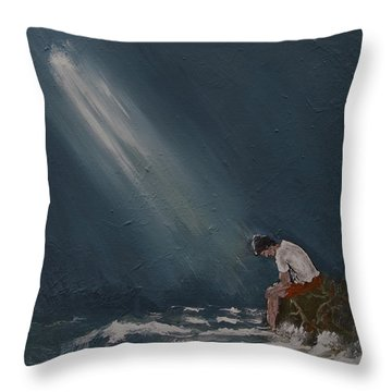 Rough Day Throw Pillow