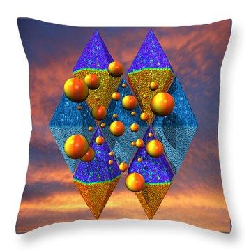 Rough Diamonds Throw Pillow by Mark W Ballard