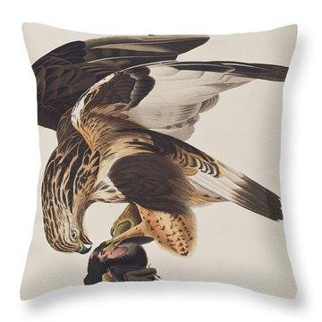 Rough Legged Falcon Throw Pillow by John James Audubon