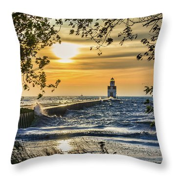 Throw Pillow featuring the photograph Rough Opening by Bill Pevlor