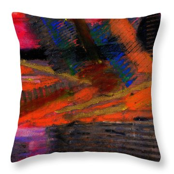 Throw Pillow featuring the painting Rough Passage by Angela L Walker