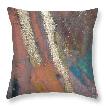 Throw Pillow featuring the painting Rough Passage II by Angela L Walker