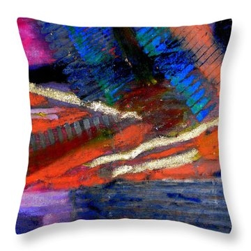 Throw Pillow featuring the painting Rough Passage IIi by Angela L Walker