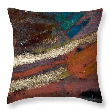 Throw Pillow featuring the painting Rough Passage V by Angela L Walker