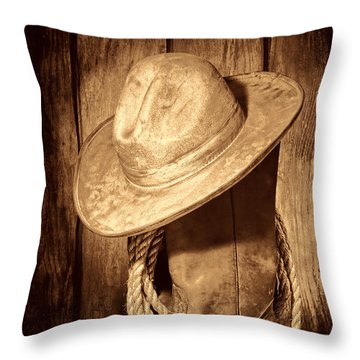 Rough Rider Throw Pillow by American West Legend By Olivier Le Queinec