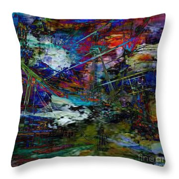Rough Seas Ahead Throw Pillow