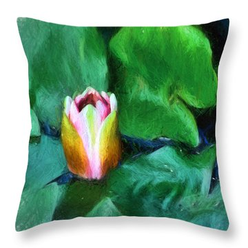 Throw Pillow featuring the digital art Rough Water by Terry Cork