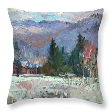 Rough Winter  Throw Pillow