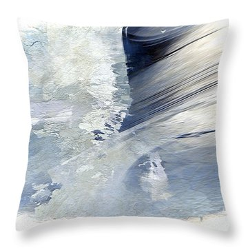 Rough Yet Peaceful Throw Pillow by Margie Chapman