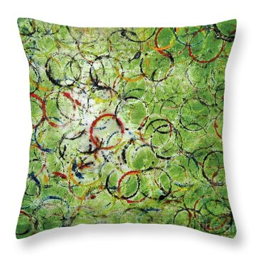 Round About 2 Throw Pillow