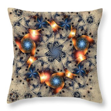 Round About Throw Pillow by Kim Redd