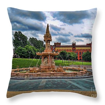 Throw Pillow featuring the photograph Round About by Roberta Byram