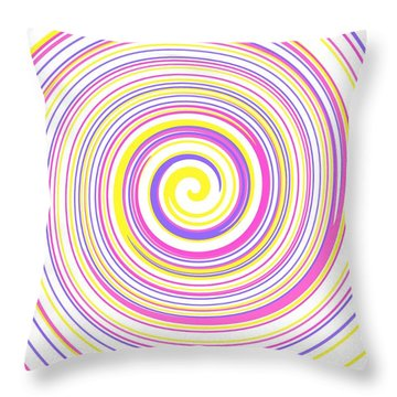 Round And Round Throw Pillow