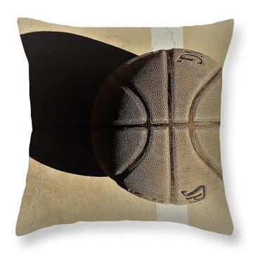 Round Ball And Shadow Throw Pillow