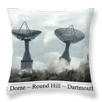 Round Hill Radar Demolition Throw Pillow