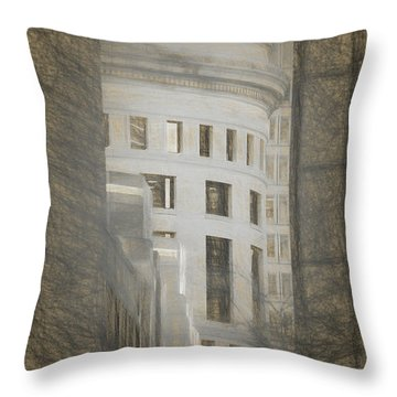 Round In A Square World Throw Pillow