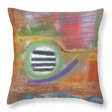Throw Pillow featuring the painting Round In Circles by Angela L Walker