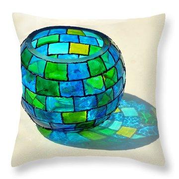 Round N Round Throw Pillow by Farah Faizal