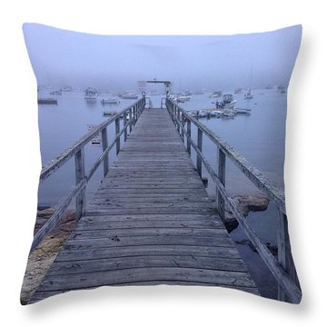 Throw Pillow featuring the photograph Round Pond by Olivier Calas
