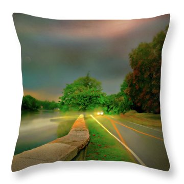 Throw Pillow featuring the photograph Round The Bend by Diana Angstadt