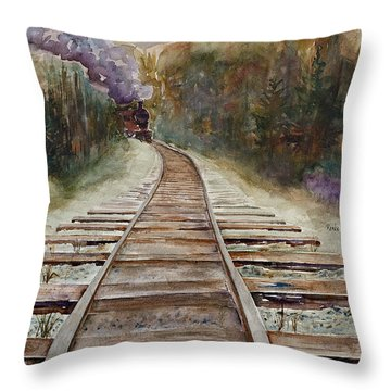 'round The Bend Throw Pillow by Renee Chastant