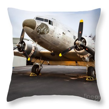 Round Trip Throw Pillow by Lawrence Burry