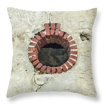 Round Window Throw Pillow by Helen Northcott