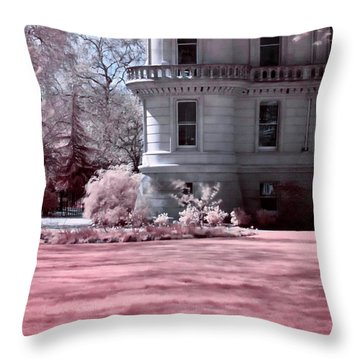 Rounded Corner Tower Throw Pillow by Helga Novelli
