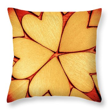 Rounded Romance Throw Pillow