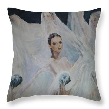 Roundelay. Ballet Dancers Throw Pillow