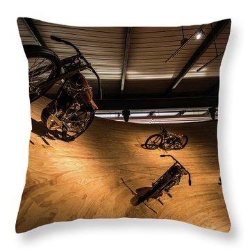 Rounding The Bend Throw Pillow by Randy Scherkenbach