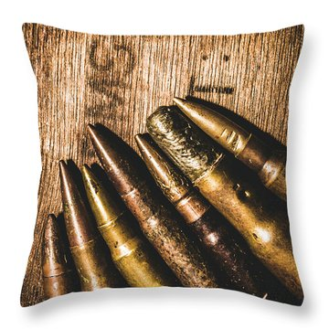 Rounds Of Historic Battle Throw Pillow