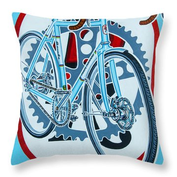 Rourke Bicycle Throw Pillow