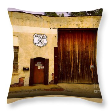 Route 66 Throw Pillow